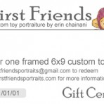 Toy Portrait Gift Certificates