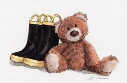 """Hazel's Boots and Owen's Teddy"""