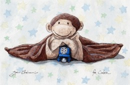 """Monkey, Thomas, and Star Blankie"" for Caden"