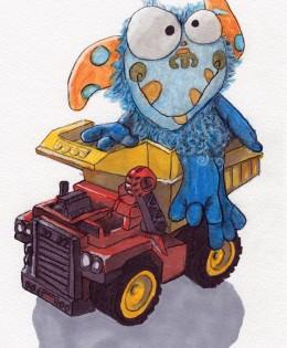 """""""Dump Truck and Monster"""" for Henry"""