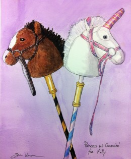 """Princess and Comanche"" for Molly"